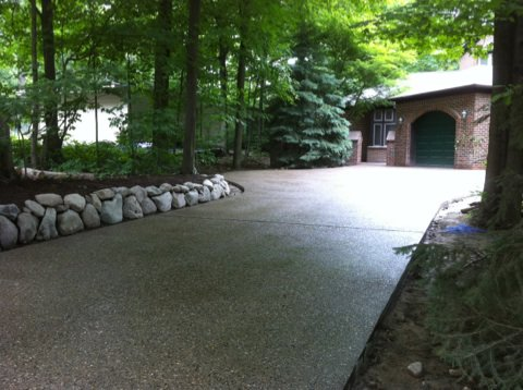 Michigan Exposed Aggregate Driveways