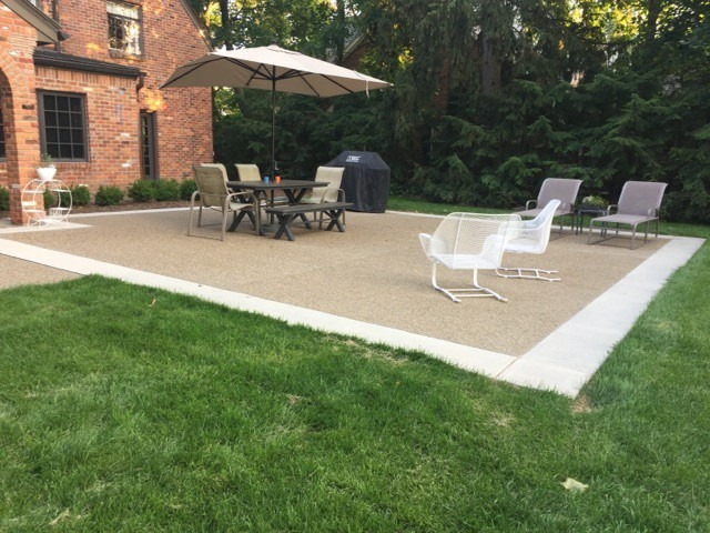 Oakland County Exposed Aggregate Patios
