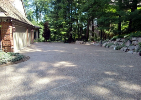 Exposed Aggregate Driveway  MI
