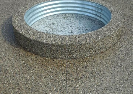 Exposed Aggregate  Fire Pit MI