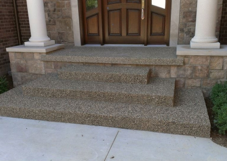 Exposed Aggregate Steps MI