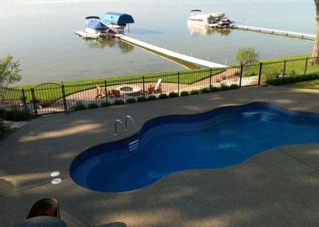 Pool Deck Exposed Aggregate MI