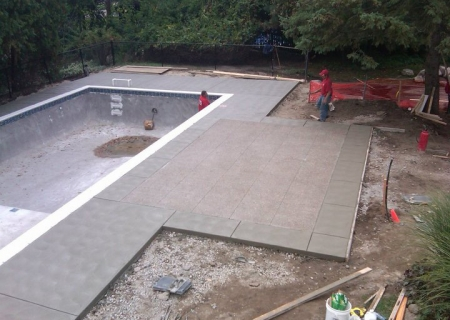 Standard Concrete Pool Deck MI