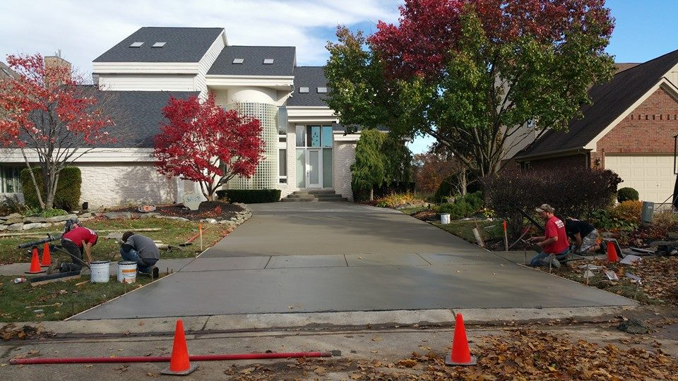 Michigan Exposed Aggregate Driveway Service